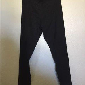 Black sparkly leggings girls 16